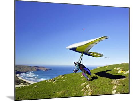 Hang Glider, Otago Peninsula, near Dunedin, South Island, New Zealand-David Wall-Mounted Photographic Print