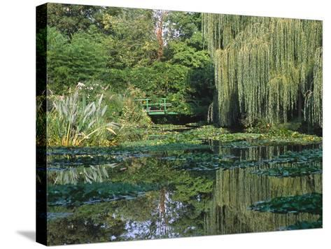 Claude Monet's Garden Pond in Giverny, France-Charles Sleicher-Stretched Canvas Print