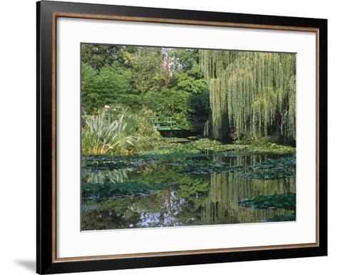 Claude Monet's Garden Pond in Giverny, France-Charles Sleicher-Framed Art Print