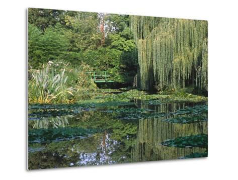 Claude Monet's Garden Pond in Giverny, France-Charles Sleicher-Metal Print