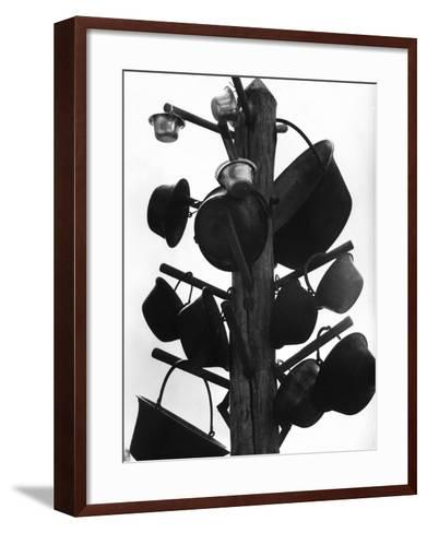 View Showing the Way the Puszta Shepherds Store their Various Cooking Utensils--Framed Art Print