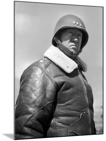 General George S. Patton During World War II--Mounted Premium Photographic Print