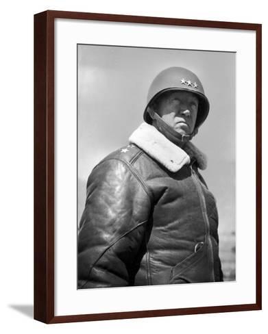 General George S. Patton During World War II--Framed Art Print
