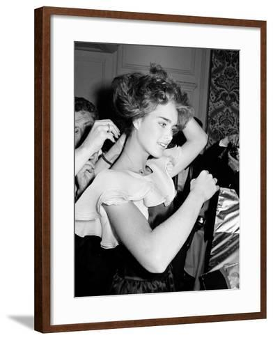 Brooke Shields--Framed Art Print