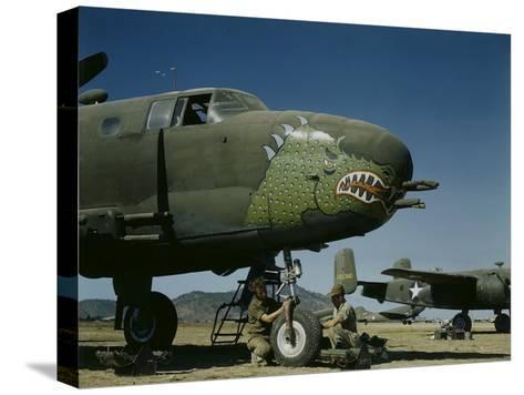 B-24's in Australia-George Silk-Stretched Canvas Print