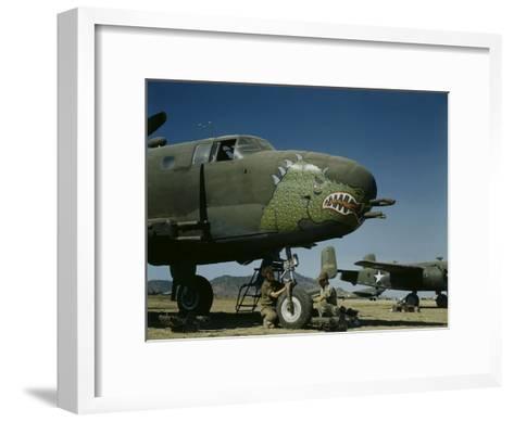 B-24's in Australia-George Silk-Framed Art Print