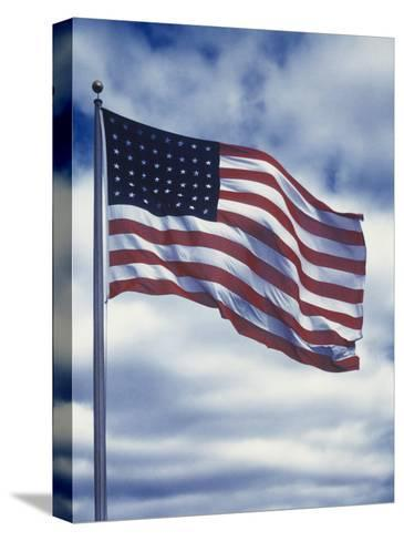 48 Star American Flag-Dmitri Kessel-Stretched Canvas Print