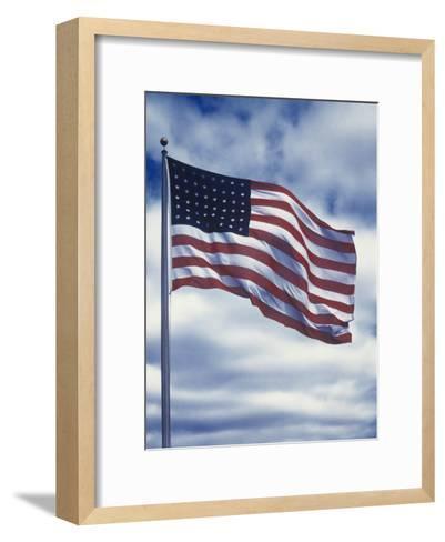 48 Star American Flag-Dmitri Kessel-Framed Art Print