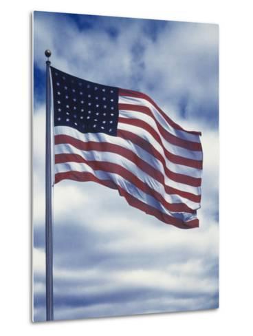 48 Star American Flag-Dmitri Kessel-Metal Print