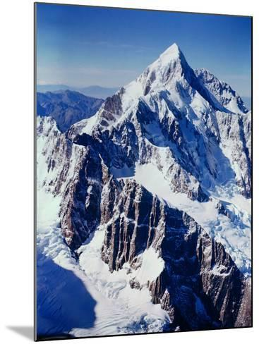 New Zealandsnow-Capped Mountain in New Zealand-George Silk-Mounted Photographic Print