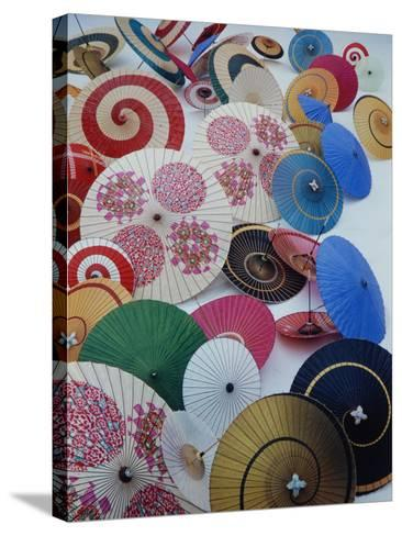Japanese Imports: Umbrellas-Eliot Elisofon-Stretched Canvas Print