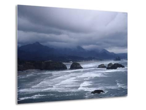 Pacific Ocean Along the Coast of Oregon-Eliot Elisofon-Metal Print