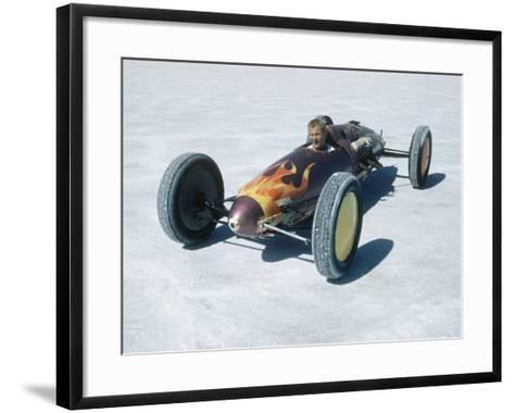 Bonneville Hot Rod Meet at the Bonneville Salt Flats in Utah-J^ R^ Eyerman-Framed Art Print