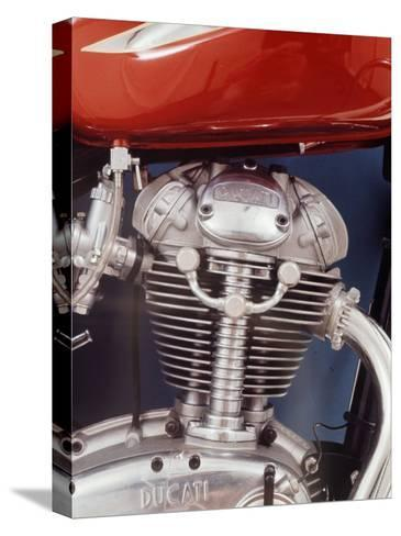 Motorcycles: Closeup of a Ducati Engine-Yale Joel-Stretched Canvas Print