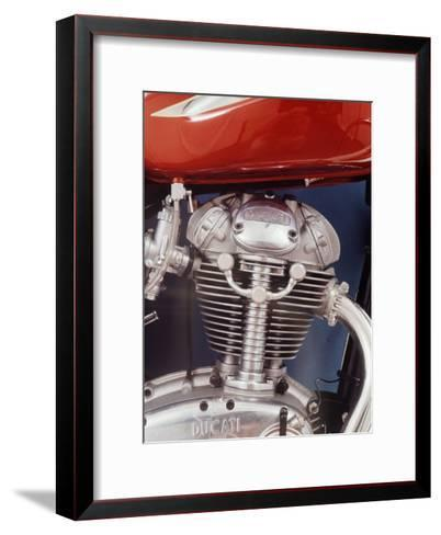 Motorcycles: Closeup of a Ducati Engine-Yale Joel-Framed Art Print