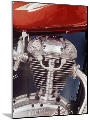 Motorcycles: Closeup of a Ducati Engine-Yale Joel-Mounted Photographic Print