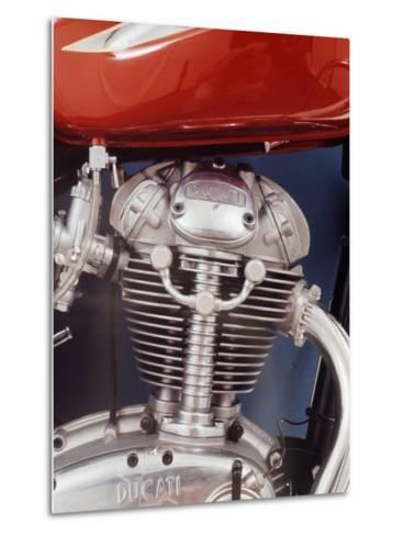 Motorcycles: Closeup of a Ducati Engine-Yale Joel-Metal Print