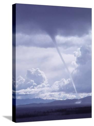 Large White Fluffy Clouds and Funnel Cloud During Tornado in Andean Highlands, Bolivia-Bill Ray-Stretched Canvas Print