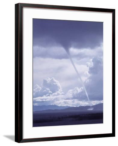 Large White Fluffy Clouds and Funnel Cloud During Tornado in Andean Highlands, Bolivia-Bill Ray-Framed Art Print