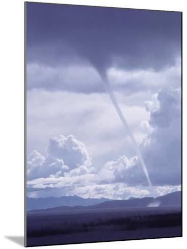 Large White Fluffy Clouds and Funnel Cloud During Tornado in Andean Highlands, Bolivia-Bill Ray-Mounted Photographic Print
