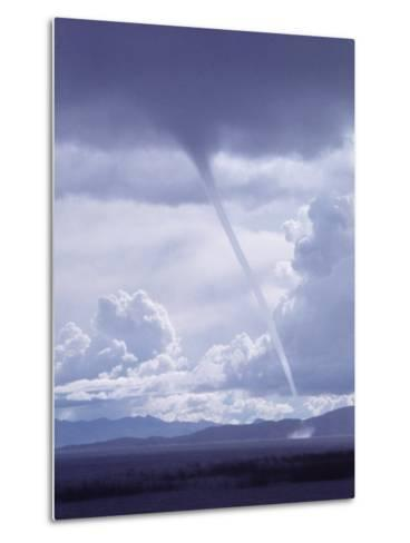 Large White Fluffy Clouds and Funnel Cloud During Tornado in Andean Highlands, Bolivia-Bill Ray-Metal Print