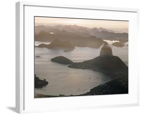 Aerial at Dusk of Sugar Loaf Mountain and Rio de Janeiro-Dmitri Kessel-Framed Art Print