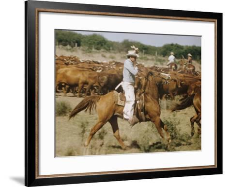 Cowboys on the King Range, TX-Eliot Elisofon-Framed Art Print