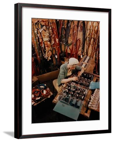 Woman at Work in General Electric Factory-Alfred Eisenstaedt-Framed Art Print