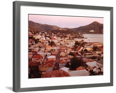 The Carribean: Low Aerials of Charlotte Amalie Capital of St Thomas-Eliot Elisofon-Framed Art Print