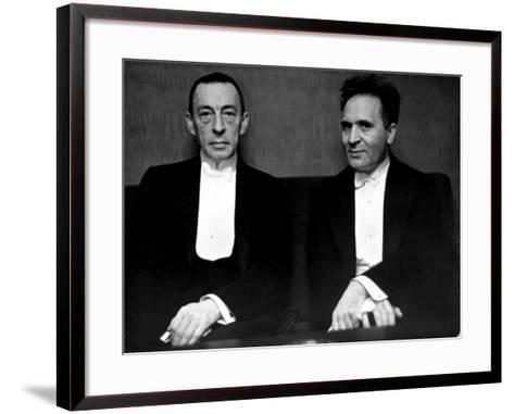 Orchestral Conductor Bruno Walter and Composer Pianist Sergei Rachmaninoff Relaxing Performance-Alfred Eisenstaedt-Framed Art Print