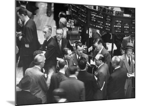 People Crowding the Stock Exchange Building-Charles E^ Steinheimer-Mounted Photographic Print