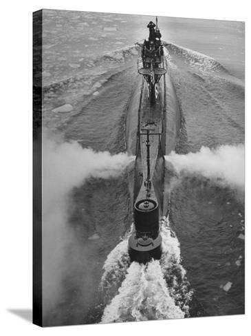 Submarine Roaring Through the Ocean-Dmitri Kessel-Stretched Canvas Print