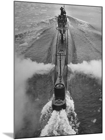 Submarine Roaring Through the Ocean-Dmitri Kessel-Mounted Photographic Print