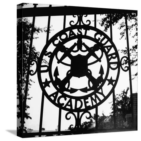 The Us Coast Guard Academy Gate-William C^ Shrout-Stretched Canvas Print