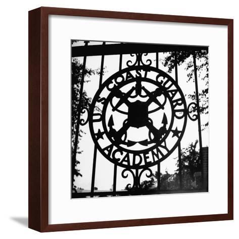 The Us Coast Guard Academy Gate-William C^ Shrout-Framed Art Print