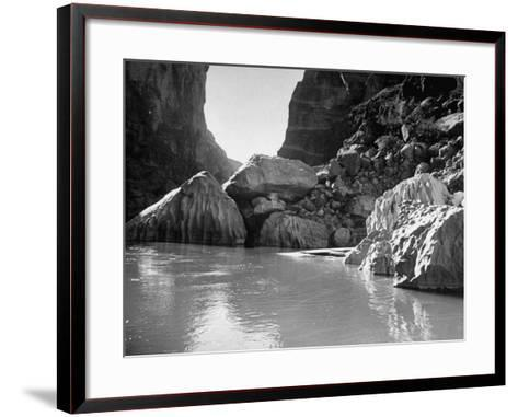 Mariscal Canyon, with Steep, Jagged Walls Rising Sharply from River, at Big Bend National Park-Myron Davis-Framed Art Print