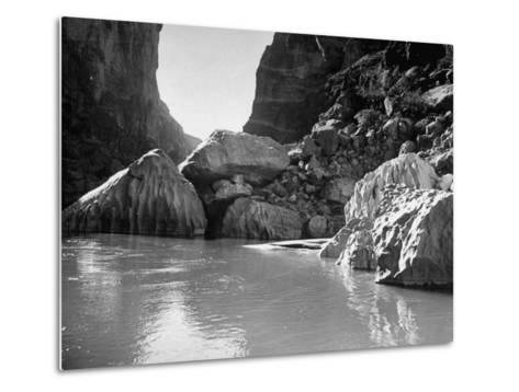 Mariscal Canyon, with Steep, Jagged Walls Rising Sharply from River, at Big Bend National Park-Myron Davis-Metal Print