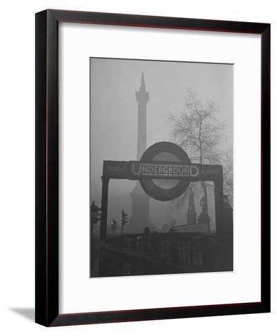 View of the Fog Drenched Streets of London-Tony Linck-Framed Art Print