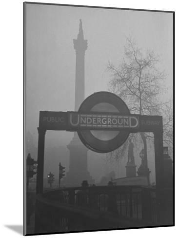 View of the Fog Drenched Streets of London-Tony Linck-Mounted Photographic Print