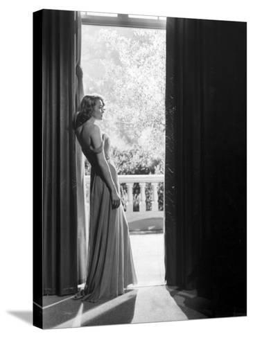 """Actress Patricia Neal in """"The Fountainhead""""-Allan Grant-Stretched Canvas Print"""