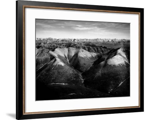 Aerial View of Snow-Capped Mountain Range in the Wenner-Gren Land Development Area-Margaret Bourke-White-Framed Art Print