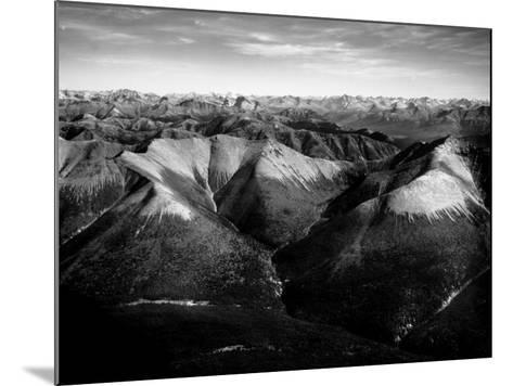 Aerial View of Snow-Capped Mountain Range in the Wenner-Gren Land Development Area-Margaret Bourke-White-Mounted Photographic Print