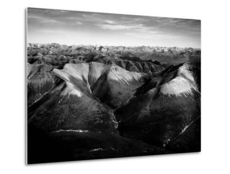 Aerial View of Snow-Capped Mountain Range in the Wenner-Gren Land Development Area-Margaret Bourke-White-Metal Print