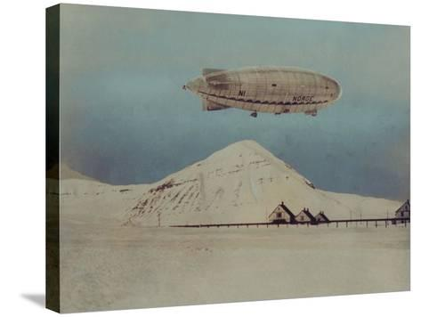 Departure of Italian Built Dirigible Norge, which Explorer Roald Amundsen Flew to North Pole--Stretched Canvas Print