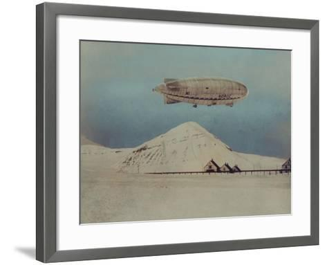 Departure of Italian Built Dirigible Norge, which Explorer Roald Amundsen Flew to North Pole--Framed Art Print