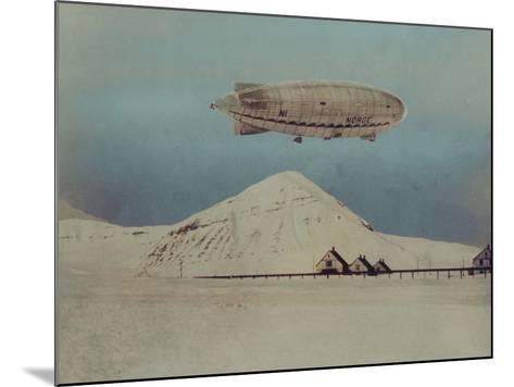 Departure of Italian Built Dirigible Norge, which Explorer Roald Amundsen Flew to North Pole--Mounted Photographic Print