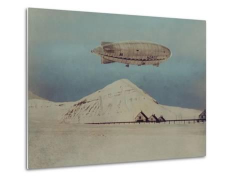 Departure of Italian Built Dirigible Norge, which Explorer Roald Amundsen Flew to North Pole--Metal Print