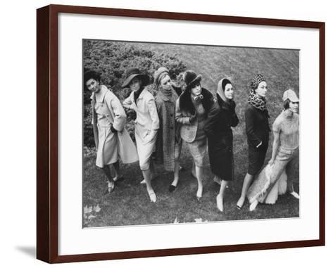 Fashion Show at the German Embassy-Francis Miller-Framed Art Print