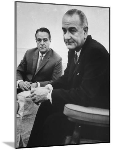 Peace Corp. Head Sargent R. Shriver Jr. and President Lyndon B. Johnson-John Dominis-Mounted Photographic Print