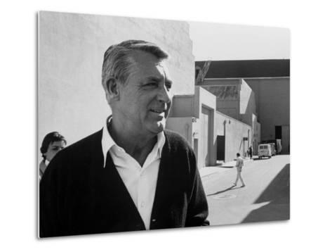 Actor Cary Grant on Lot at Universal Studio-John Dominis-Metal Print